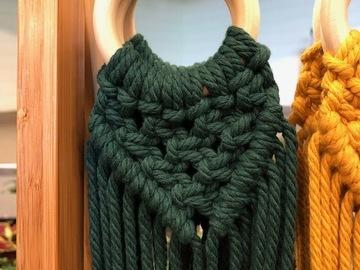 Selling: Green Macrame Plant Hanger