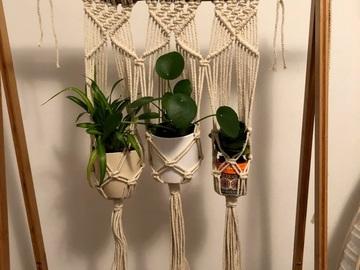 Selling: Three-Plant Macrame Hanger