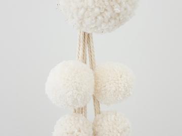 "Selling: Macrame plant hanger - ""Poms: Minimal"""