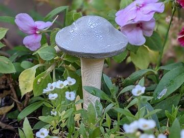 Selling: Mushroom Garden Stake gray